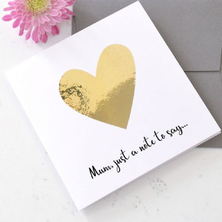 Personalised Metallic Heart Card